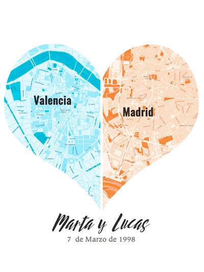 Mapas de corazon