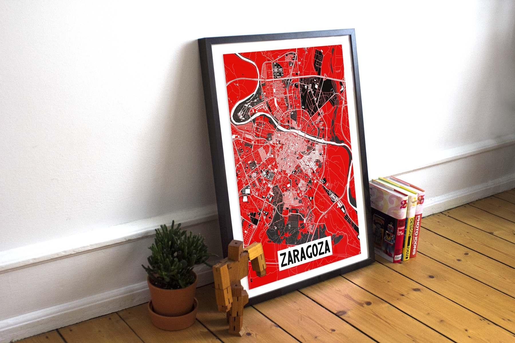 """Poster Zaragoza Ebro """"Blanco"""""""