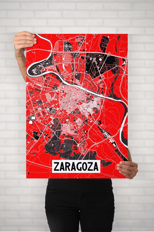 Poster Zaragoza modelo blanco