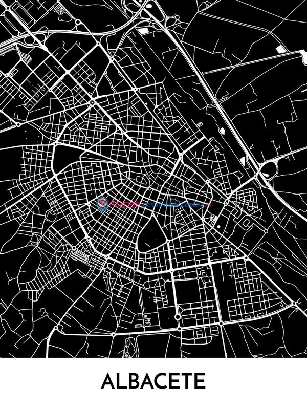 Mapa decorativo de Albacete