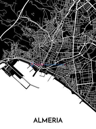 Mapa decorativo de Almería
