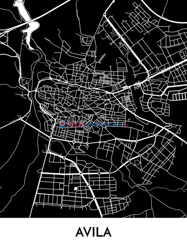 Mapa decorativo de Ávila
