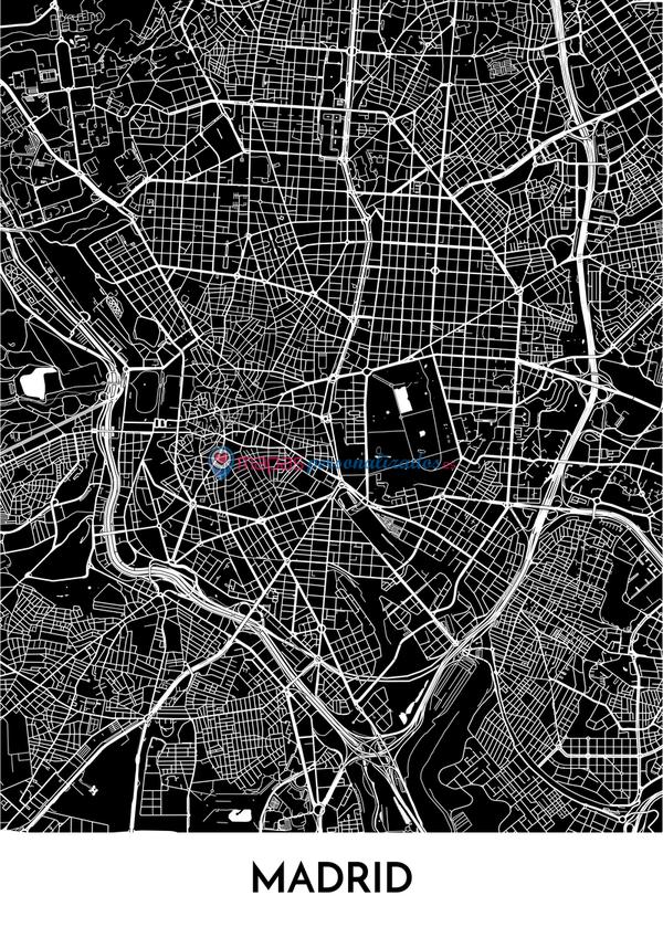 poster personalizado mapa madrid