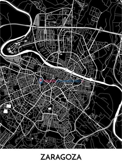 Mapa decorativo de Zaragoza