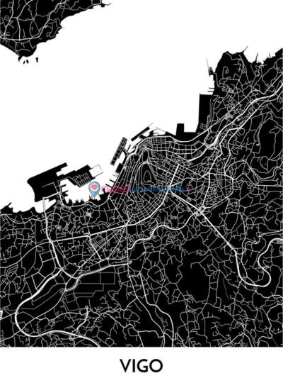 Mapa decorativo de Vigo