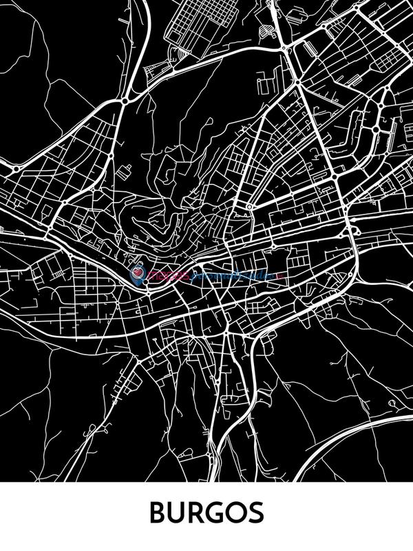 Mapa decorativo de Burgos